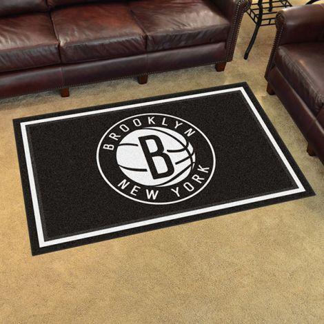 Brooklyn Nets NBA 4x6 Plush Rug