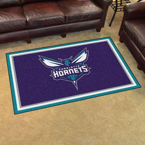 Charlotte Hornets NBA 4x6 Plush Rug