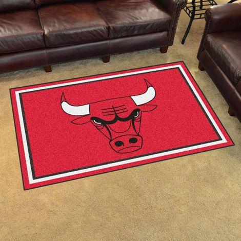 Chicago Bulls NBA 4x6 Plush Rug