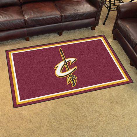 Cleveland Cavaliers NBA 4x6 Plush Rug