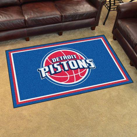 Detroit Pistons NBA 4x6 Plush Rug