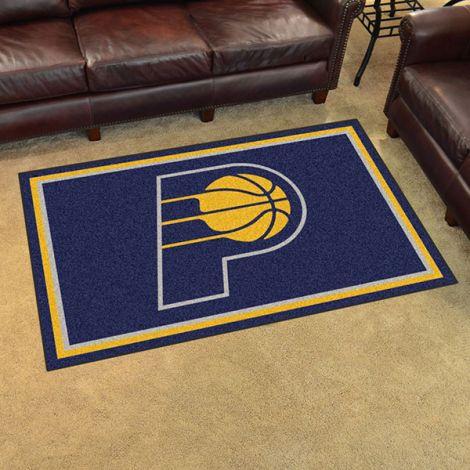 Indiana Pacers NBA 4x6 Plush Rug