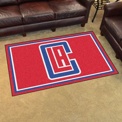 Los Angeles Clippers NBA 4x6 Plush Rug