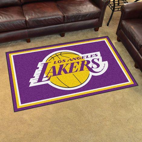 Los Angeles Lakers NBA 4x6 Plush Rug