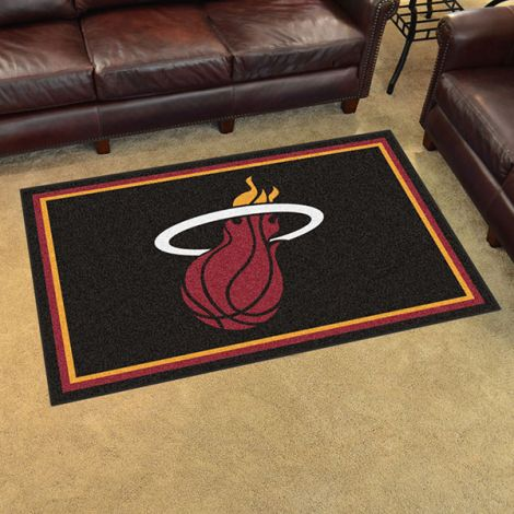 Miami Heat NBA 4x6 Plush Rug