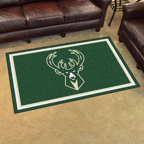 Milwaukee Bucks NBA 4x6 Plush Rug