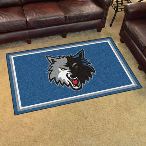 Minnesota Timberwolves NBA 4x6 Plush Rug
