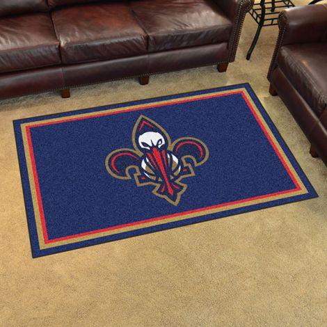 New Orleans Pelicans NBA 4x6 Plush Rug