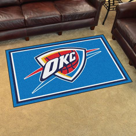 Oklahoma City Thunder NBA 4x6 Plush Rug