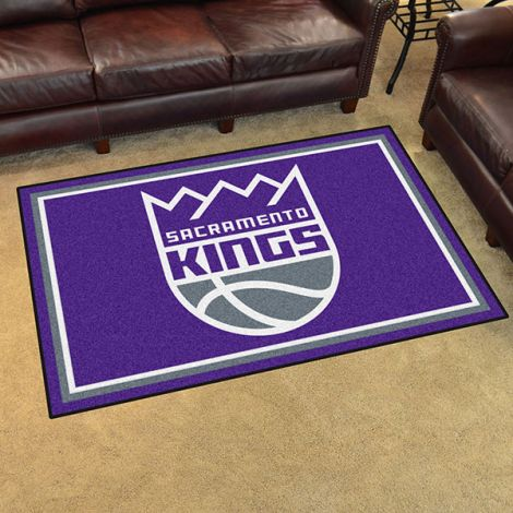 Sacramento Kings NBA 4x6 Plush Rug