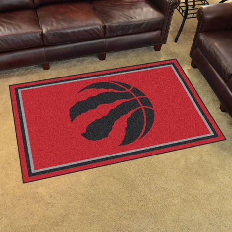 Toronto Raptors NBA 4x6 Plush Rug