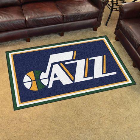 Utah Jazz NBA 4x6 Plush Rug