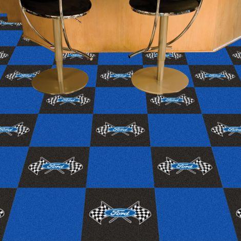 Ford Flags Blue Ford Team Carpet Tiles