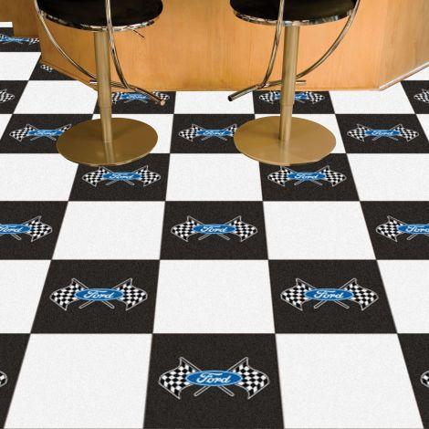 Ford Flags White Ford Team Carpet Tiles