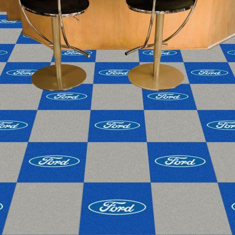 Boss 302 Grey Ford Team Carpet Tiles