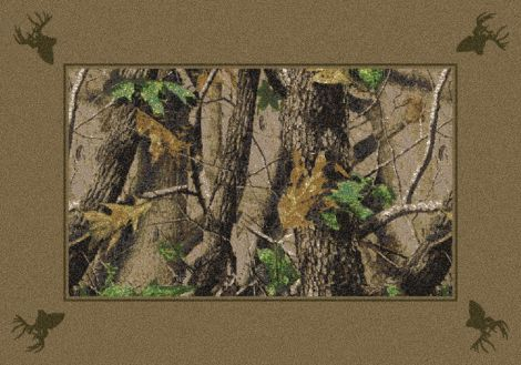 Hardwoods Green Realtree Collection Area Rug