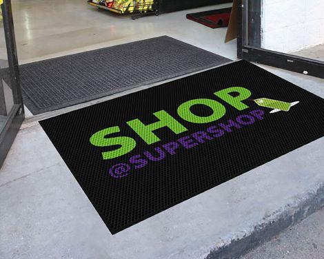 Clean Step Logo Rubber Scraper Mat