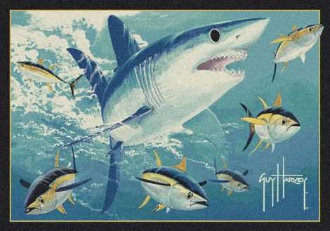 Mako Shark Guy Harvey Collection Area Rug
