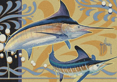 Marlin Modern Guy Harvey Collection Area Rug