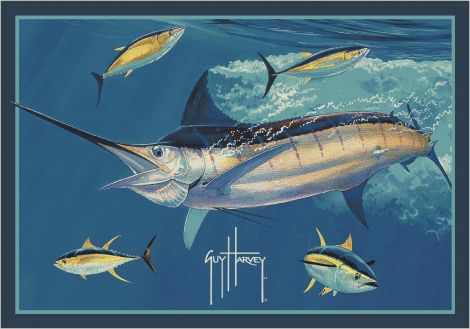 Marlin Tuna Guy Harvey Collection Area Rug