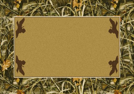 Max-4 Solid Center Realtree Collection Area Rug