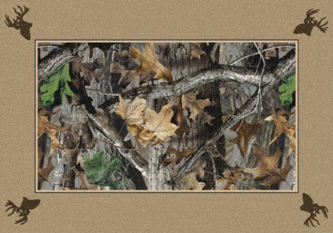 New Timber Solid Border Realtree Collection Area Rug