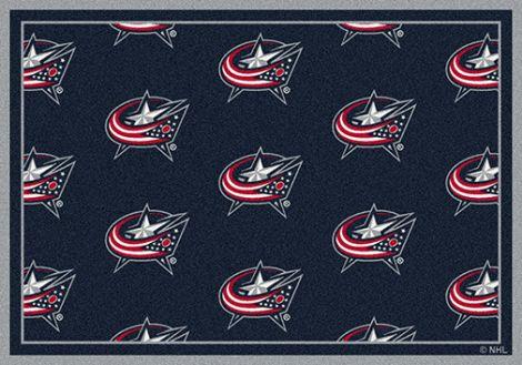 Columbus Bluejackets NHL Team Repeat Rug