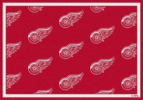 Detroit Redwings NHL Team Repeat Rug
