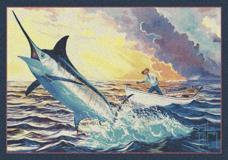 Old Man And The Sea Guy Harvey Collection Area Rug
