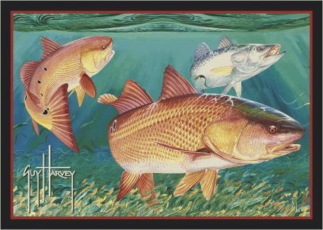 Redfish Guy Harvey Collection Area Rug