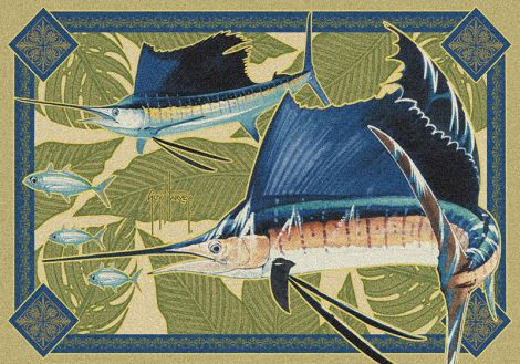Sailfish Modern Guy Harvey Collection Area Rug