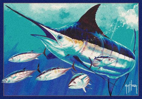 Skippin School Guy Harvey Collection Area Rug