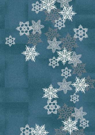 Snowfall Arctic Blue Holiday Collection Area Rug