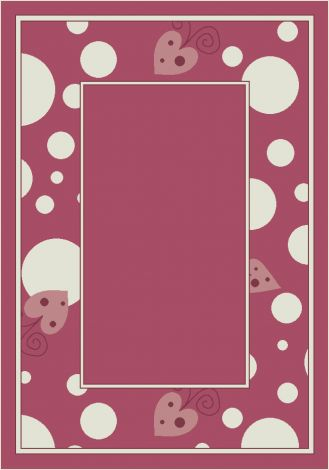 Sweetheart Border Theme Rugs 2 Collection Area Rug