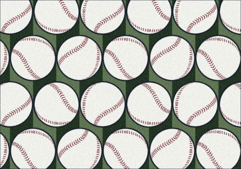 Swing Batter Theme Rugs 2 Collection Area Rug
