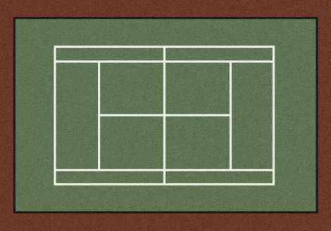 Tennis Anyone? Theme Rugs 2 Collection Area Rug