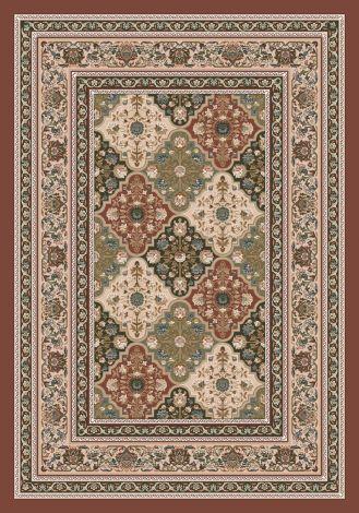 Tournai Red Clay Kashmiran Pastiche Collection Area Rug