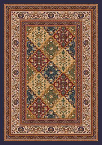 Tournai Black Currant Kashmiran Pastiche Collection Area Rug