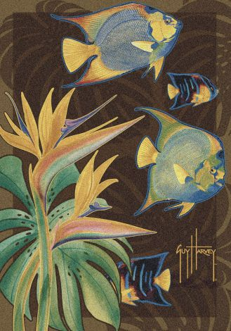 Tropical Fish Guy Harvey Collection Area Rug