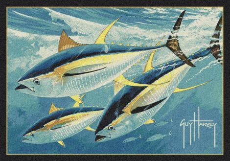 Yellow Fin Tuna Guy Harvey Collection Area Rug