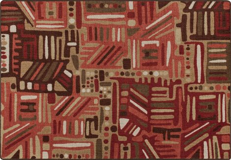 Urban Order Red Oak Mix & Mingle Collection Area Rug