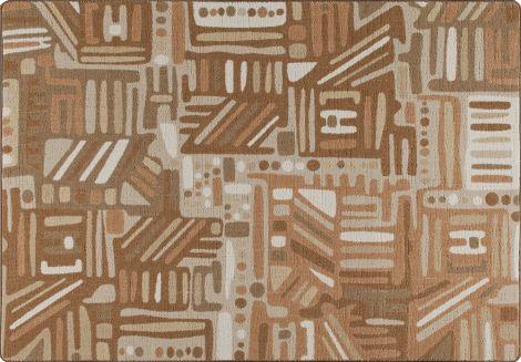 Urban Order Terra Cotta Mix & Mingle Collection Area Rug