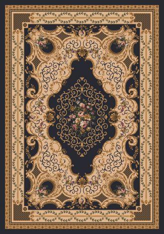 Valette Ebony Kashmiran Pastiche Collection Area Rug