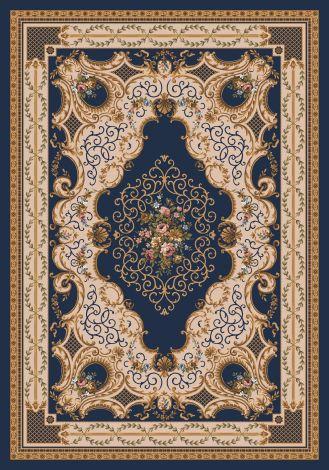 Valette Phantom Blue Kashmiran Pastiche Collection Area Rug