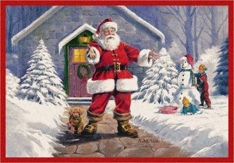 Welcome Santa Welcome Santa Holiday Collection Area Rug