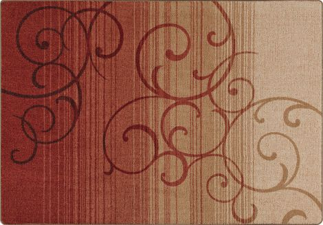 Whispering Wind Festival Red Mix & Mingle Collection Area Rug