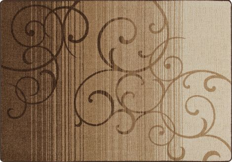 Whispering Wind Umber Mix & Mingle Collection Area Rug