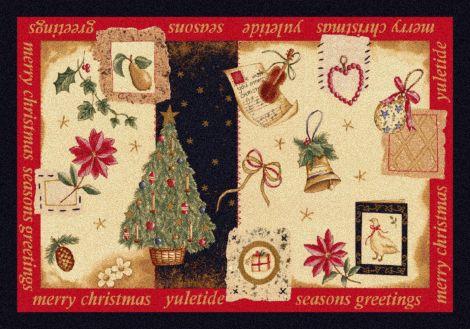 Yuletide Nostalgic Holiday Collection Area Rug