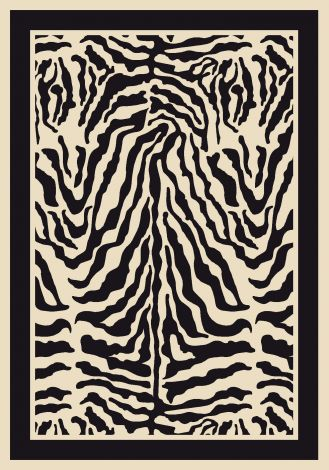 Zulu Zebra Innovations Collection Area Rug